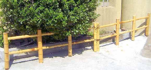 Bamboo Post Amp Rail Fence