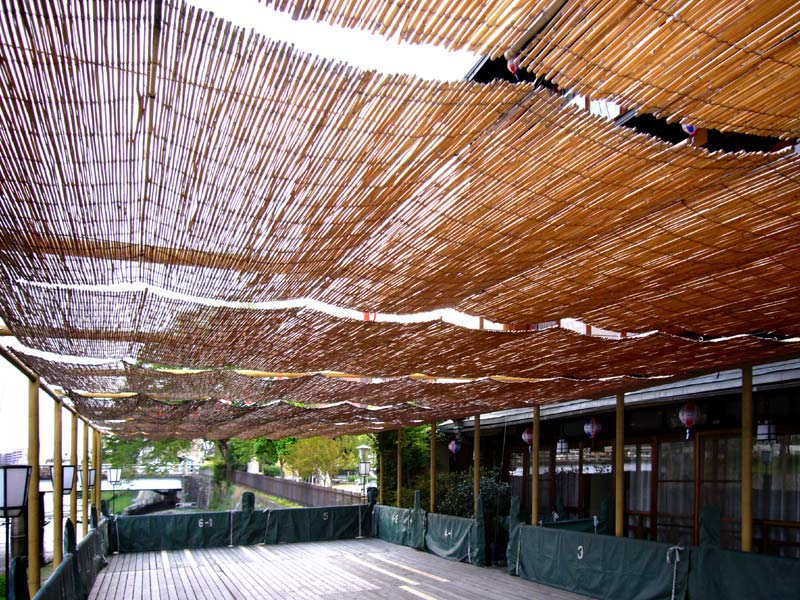 Woven Bamboo Rolled Fence