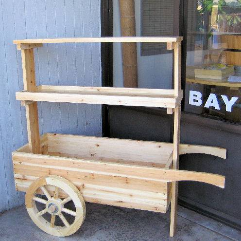 Wooden Cart Dispaly
