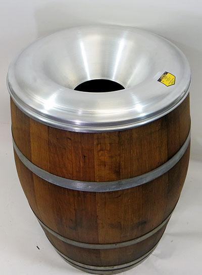 Barrel Waste Receptacle