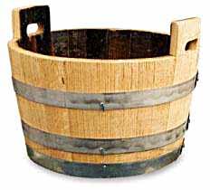 Oak Bucket Tub Planter