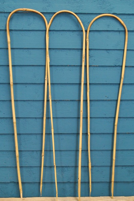 diy decorative ladder out of bamboo poles backyard x.htm bamboo u hoop plant support  bamboo u hoop plant support