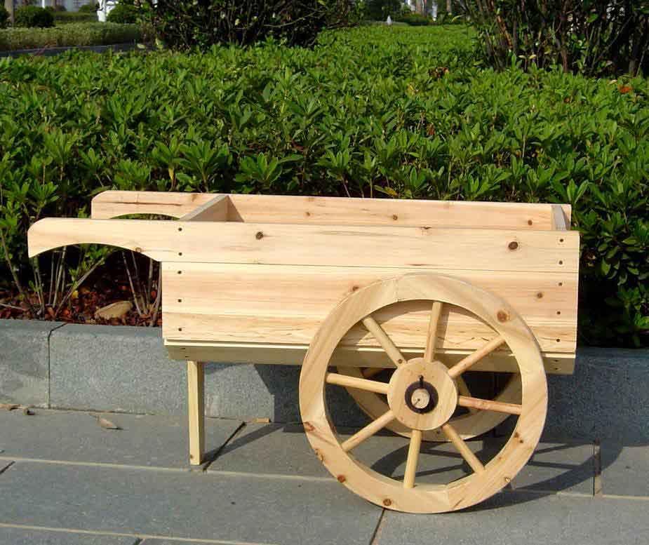 Wood Wheelbarrow: Wagon & Wheel Barrow