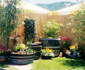 Barrel Water Garden Tub